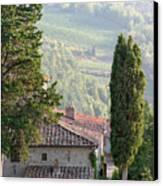 Tuscan Farmhouse At Villa Vignamaggio Canvas Print