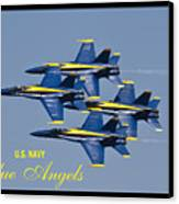 Us Navy Blue Angels Poster Canvas Print