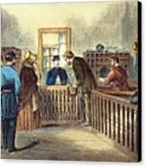 Va: Freedmens Bureau 1866 Canvas Print