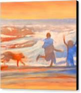 Vacation Kids Canvas Print
