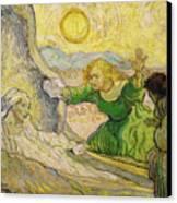 Van Gogh Raising Of Lazarus After Rembrandt Canvas Print