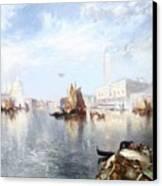 Venetian Grand Canal Canvas Print by Thomas Moran