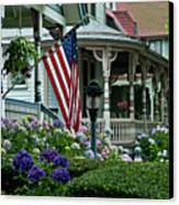 Victorian House And Garden. Canvas Print by John Greim