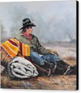 Waitin' On The Boss Canvas Print by Bob Hallmark
