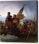 Washington Crossing The Delaware Canvas Print by Emanuel Leutze