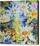Water Garden Canvas Print by Ann  Nicholson