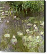 Waterlilies At Midday Canvas Print by Claude Monet