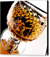 Whiskey In Glass Canvas Print by Blink Images