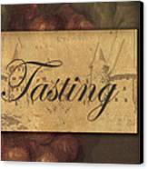Wine Tasting Collage  Canvas Print by Grace Pullen