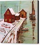 Winter Sail Canvas Print
