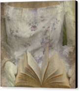 Woman With A Book Canvas Print by Joana Kruse