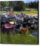 Wrecking Yard Study 9 Canvas Print