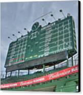 Wrigley Scoreboard Canvas Print by David Bearden
