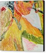 Yellow Smoker Canvas Print