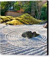 Zen Garden At A Sunny Morning Canvas Print by Ulrich Schade