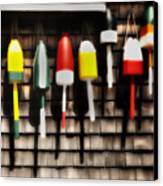 11 Buoys In A Row Canvas Print by Thomas Schoeller