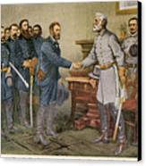Lees Surrender 1865 Canvas Print by Granger