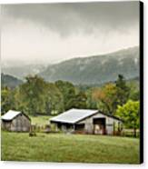 1209-1116 - Boxley Valley Barn Canvas Print by Randy Forrester