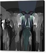 127 -  Nightwalkers Dark Canvas Print by Irmgard Schoendorf Welch