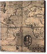 1581 Map By Nicola Van Sype, Showing Canvas Print by Everett