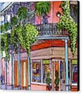 18  French Quarter Art Gallery Canvas Print
