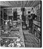 1860's Ore Assay Office Shop - Montana Canvas Print by Daniel Hagerman