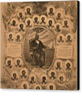 1868 Commemorative Photo Collage Canvas Print