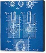 1902 Golf Ball Patent Artwork - Blueprint Canvas Print by Nikki Marie Smith