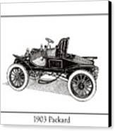 1903 Packard Canvas Print by Jack Pumphrey