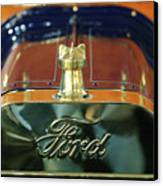 1911 Ford Model T Runabout Hood Ornament Canvas Print by Jill Reger