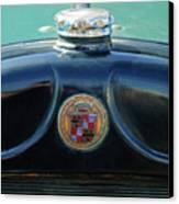 1925 Cadillac Hood Ornament And Emblem Canvas Print