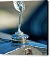 1928 Nash Coupe Hood Ornament Canvas Print by Jill Reger