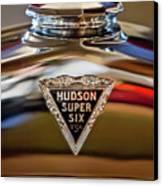 1929 Hudson Cabriolet Hood Ornament Canvas Print