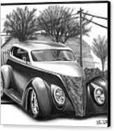 1937 Ford Sedan Canvas Print by Peter Piatt