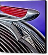 1937 Hudson Terraplane Sedan Hood Ornament 2 Canvas Print by Jill Reger