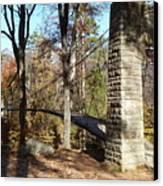 1939 Swinging Bridge Canvas Print by Joel Deutsch