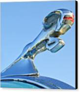 1940 Dodge Business Coupe Hood Ornament Canvas Print by Jill Reger