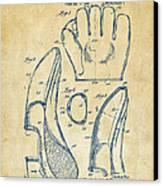 1941 Baseball Glove Patent - Vintage Canvas Print by Nikki Marie Smith