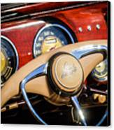 1941 Lincoln Continental Cabriolet V12 Steering Wheel Canvas Print