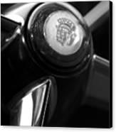 1947 Cadillac Steering Wheel Canvas Print by Jill Reger