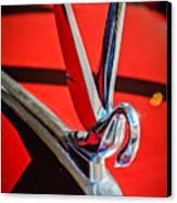 1948 Packard Hood Ornament 2 Canvas Print by Jill Reger