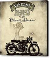 1948 Vincent Black Shadow Canvas Print by Cinema Photography