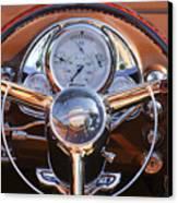 1950 Oldsmobile Rocket 88 Steering Wheel 2 Canvas Print by Jill Reger