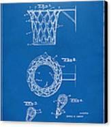 1951 Basketball Net Patent Artwork - Blueprint Canvas Print