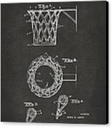 1951 Basketball Net Patent Artwork - Gray Canvas Print