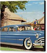 1951 Hudson Hornet Fair Americana Antique Car Auto Nostalgic Rural Country Scene Landscape Painting Canvas Print by Walt Curlee