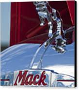 1952 L Model Mack Pumper Fire Truck Hood Ornament Canvas Print by Jill Reger