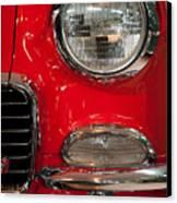 1955 Chevy Bel Air Headlight Canvas Print by Sebastian Musial