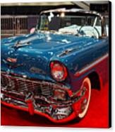 1956 Chevrolet Bel-air Convertible . Blue . 7d9248 Canvas Print by Wingsdomain Art and Photography