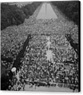 1963 March On Washington, At The Height Canvas Print